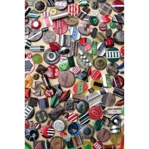 Antique haberdashery postcard Art Deco Buttons