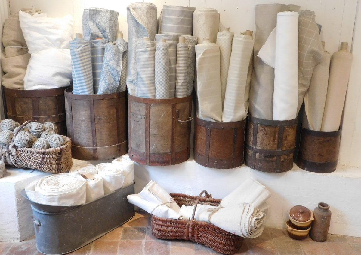 Artisan made Giaquinto quality fabrics and antique hemp for interior design and sewing projects