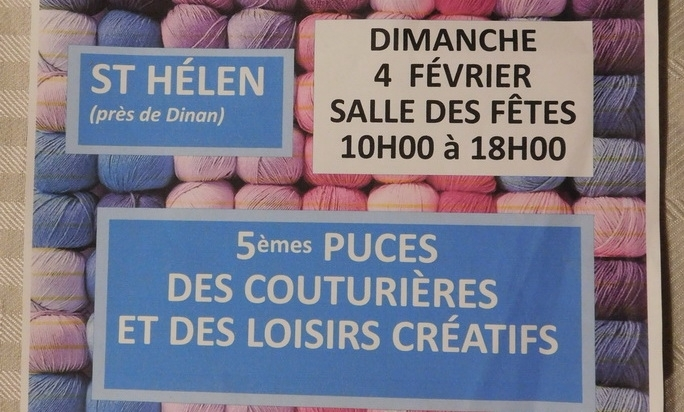 Maison Bleu Lin will be at St Helen Puces des couturières near Dinan on february 4th 2018