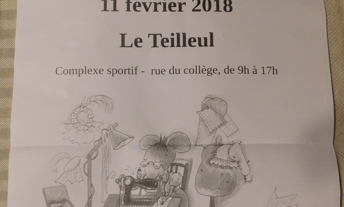 Maison bleu lin will be at Puces des couturières du Teilleul on february 4th 2018