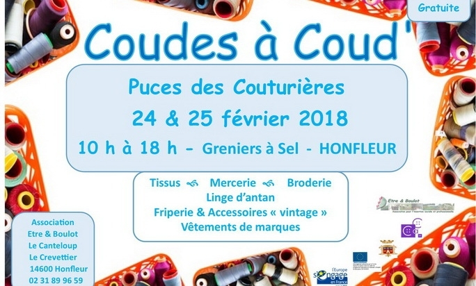 Maison Bleu Lin will exhibit at Honfleur Puces des couturières on february 24th &25th 10am-6pm